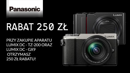 Aparaty GX9 oraz TZ-200 z rabatem 250 zł