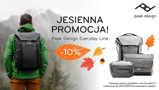 Jesienny rabat 10% na torby Peak Designa z linii EveryDay