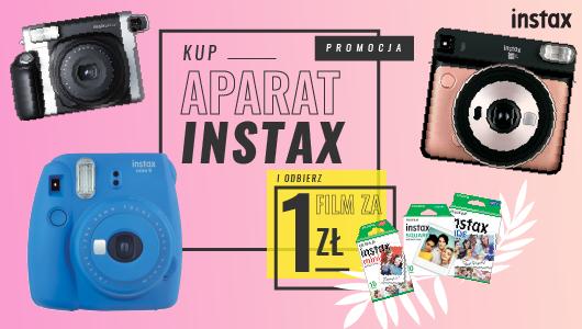 Kup aparat Instax a 10 wkładów otrzymasz za 1 zł