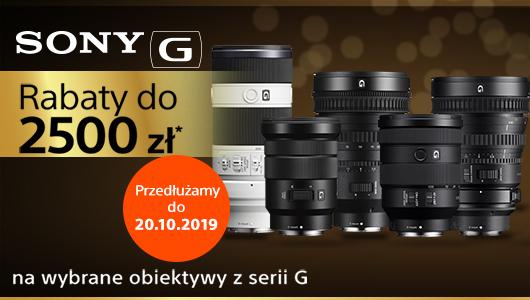 Rabat nawet do 2500 zł na obiektywy Sony serii G